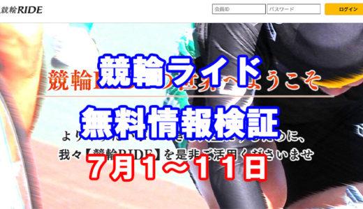 競輪ライド(競輪RIDE)は稼げる!競輪予想サイトの無料情報検証をしてみた!7月1日~7日11日