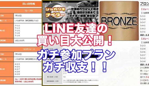 競輪予想サイトの実績公開!みんなの買い目公開!勝のLINE友達が実際に参加したプラン、買い目、収支を大公開!