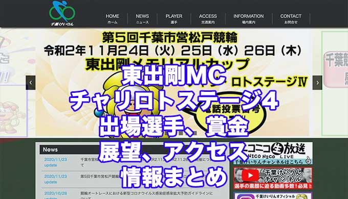 東出剛MC2020チャリロトステージ4(松戸競輪F1)アイキャッチ