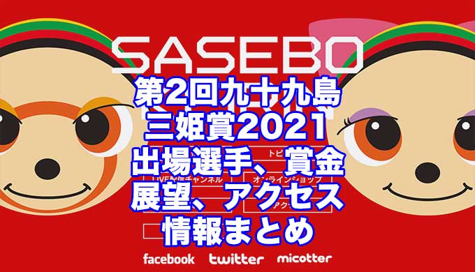第2回九十九島三姫賞2021(佐世保競輪F1)アイキャッチ