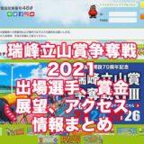 瑞峰立山賞争奪戦2021開設70周年記念(富山競輪G3)アイキャッチ