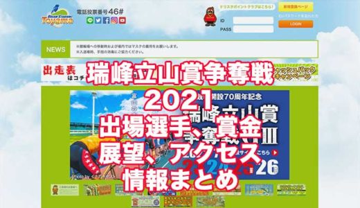 瑞峰立山賞争奪戦2021開設70周年記念(富山競輪G3)の予想!速報!出場選手、賞金、展望、アクセス情報まとめ