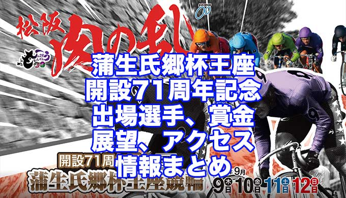 蒲生氏郷杯王座競輪2021開設71周年記念(松阪競輪G3)アイキャッチ